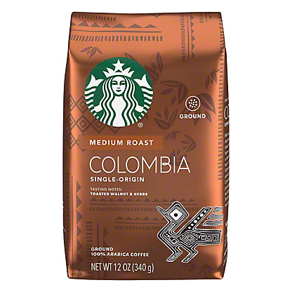 Starbucks Colombia Medium Roast Ground Coffee, 12 oz